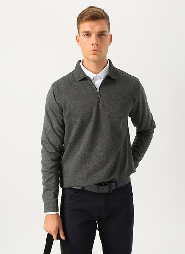 Cotton Bar Sweatshirt Antrasit